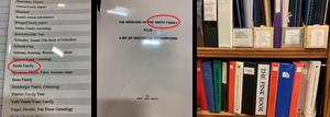 Smith family history documents