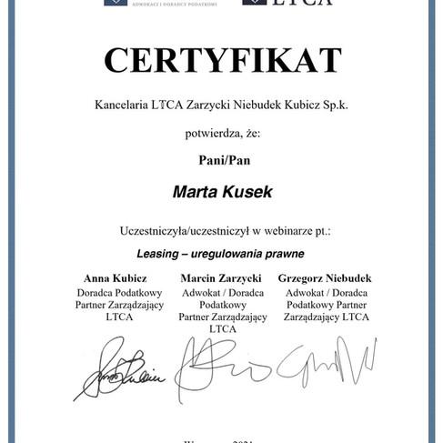 20 05 2021 - Leasing – uregulowania prawne - Marta Kusek.jpg