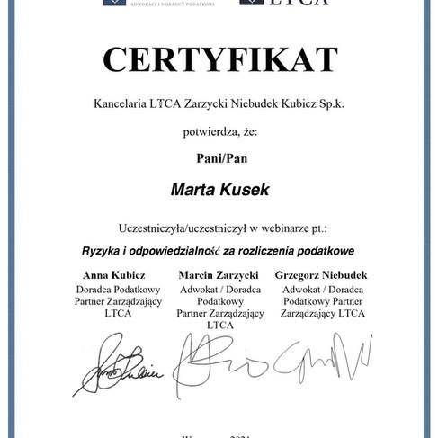 15 07 2021 - Ryzyka i odpowiedzialność za rozliczenia podatkowe - Marta Kusek.jpg
