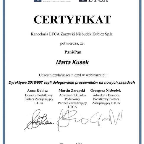 16 04 2021 - Dyrektywa 2018 957 czyli delegowanie pracowników na nowych zasadach - Marta K