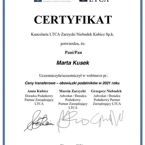 10 06 2021 - Ceny transferowe – obowiązki podatników w 2021 roku - Marta Kusek.jpg