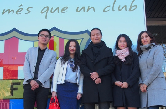 Didac Lee, (Director FC Barcelona) Huawei Delegates, Raquel Consul (Director LifestyleDMC)