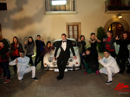 James Bond Flash Mob Event Barcelona
