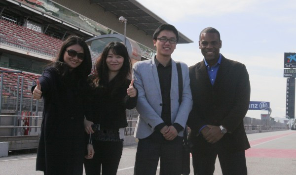 Delegates from Huawei China with Tony Anagor (MD LifestyleDMC) Visiting the F1 Circuit of Catalunya