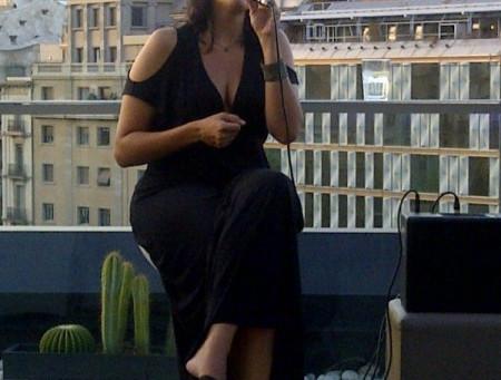 Jazz On a Terrace in Barcelona.