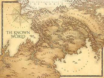 custom parchment map