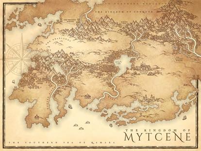 Mytcene Kingdom Map