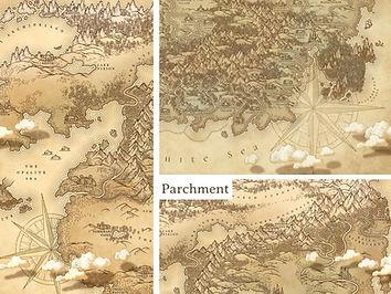 parchment map vintage