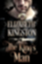 book cover: Close up of fair-skinned man in chain mail, scruffy beginning of beard, holding sword hilt before his chest like a large cross.  Colors: silver chain mail and black leather accents, burnished gold sword hilt, antique gold lettering, gray background