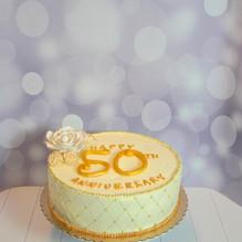 Golden Anniversary Cake