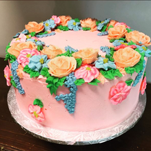 Strawberry Floral Cake