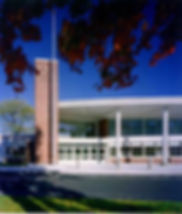 Main Entrance to Saxe Middle School in New Canaan, CT