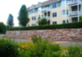 New Landscape and Residential Buildings at Evergreen Woods Development in Branford, CT.