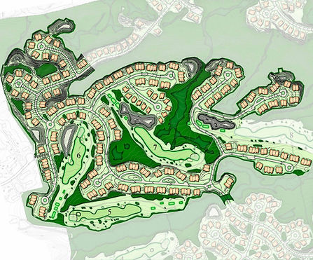 Illustrative Plan of Oxford Greens Residential Community in Oxford, CT