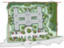 Illustrative Site Plan for Artis Senior Living