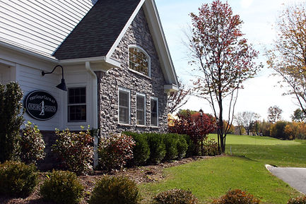 Attractive landscape surrounds Oxford Greens Golf Course Clubhouse in Oxford, CT