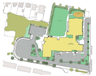 Illustrative Site Plan for Nathan Hale School in New Haven