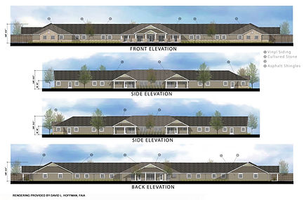 Building Elevations For Facility at Artis Senior Living in Branford, CT