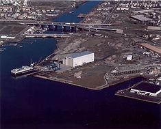 Northern Aerial View of Bridgeport Regional Maritime Complex