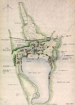Original Illustrative Master Plan for Wolfe Park in Monroe, CT