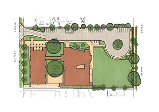 Illustrative Site Plan for the Worthington Hooker School in New Haven, CT