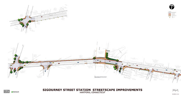 Illustrative Site Plan for Sigourney Street Station Streetscape Improvements