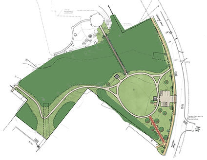 Illustrative Site Plan For Phase Two of Veterans Memorial Park in Berlin, CT