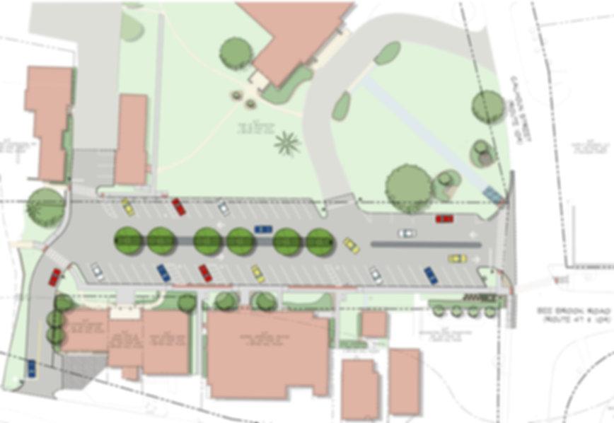 Illustrative Site Plan for Sigourney Street Station Streetscape Improvements