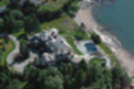 Birds-eye View of Sachem Head Residence in Guilford, CT