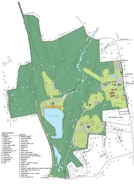 Updated Illustrative Master Plan for Wolfe Park in Monroe, CT