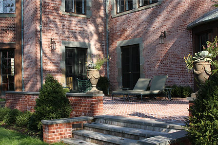 Brick Terrace at East Rock Residence in New Haven, CT