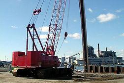 Construction of Derektor Shipyards in Bridgeport, CT