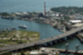 Birds-eye View of Bridgeport High Speed Ferry in Bridgeport, CT