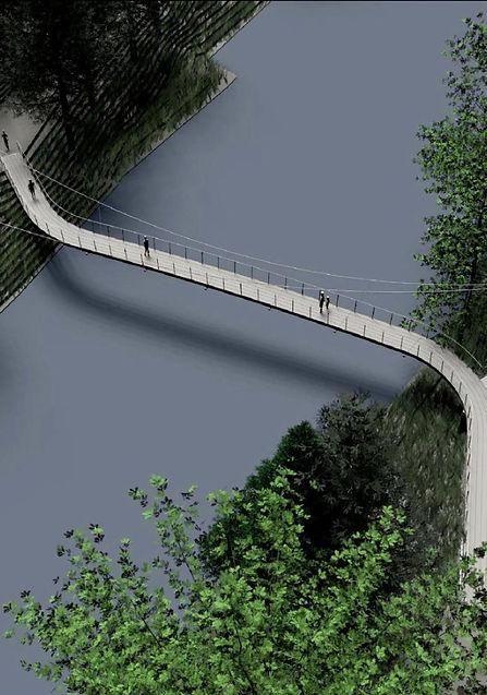 Conceptual Rendering of Steep Rock Pedestrian Bridge in Washington, CT