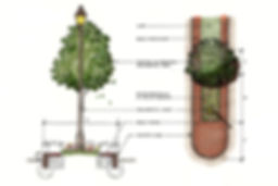 Conceptual Sketch of Wilson Corridor Streetscape in Windsor, CT
