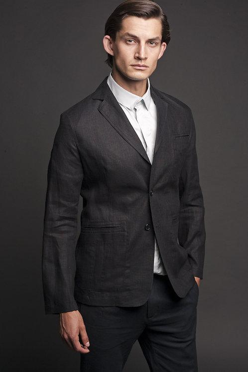 Пиджак Чёрный лён