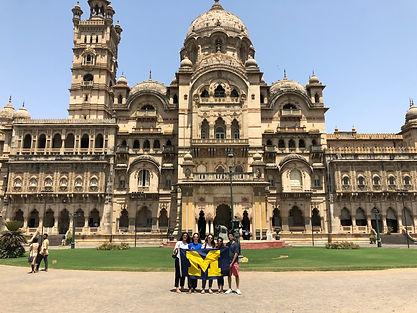 Laxmi Vilas Palace with U Mich Flag.JPG