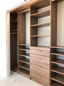 Large Reach-in Drawers, shoe shelves, ha