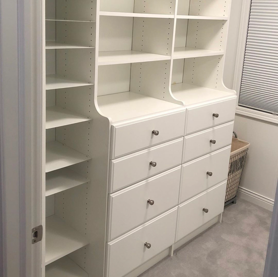 Double Hutch with Adjustable Shoe Shelves