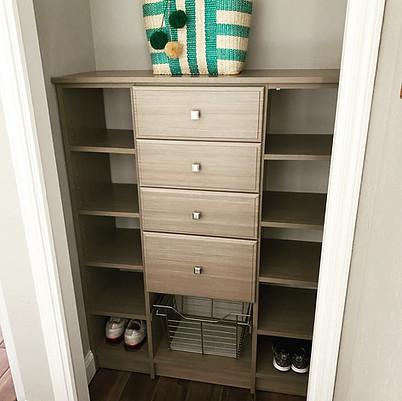 Mini Guest Closet turned Entertainment Closet