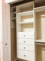 Reach in with drawers