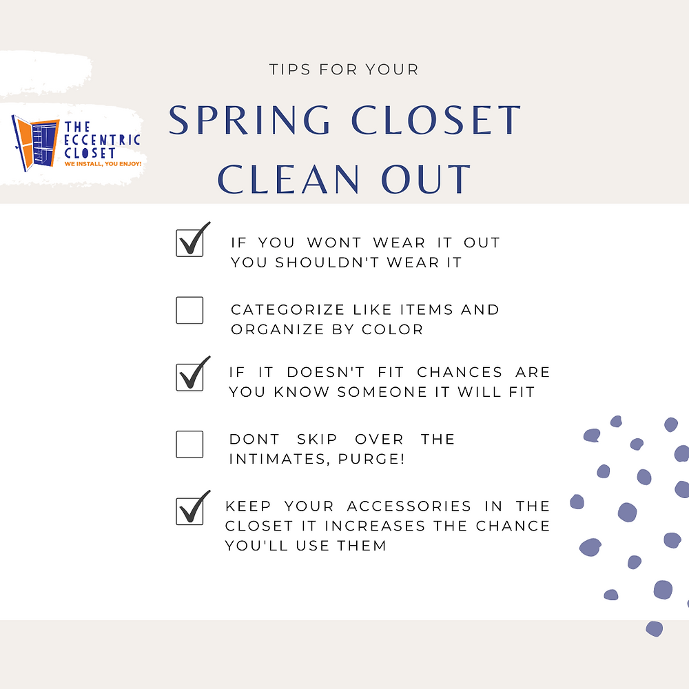 Spring Closet Clean Out Checklist