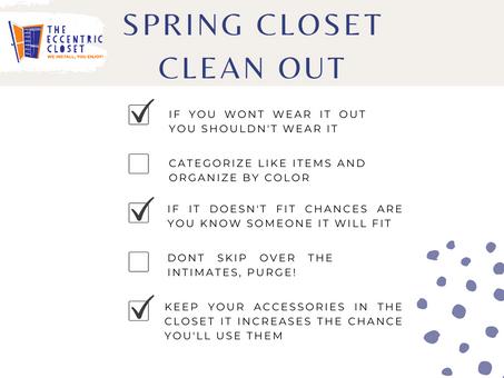 Spring Closet Clean Out Checklist