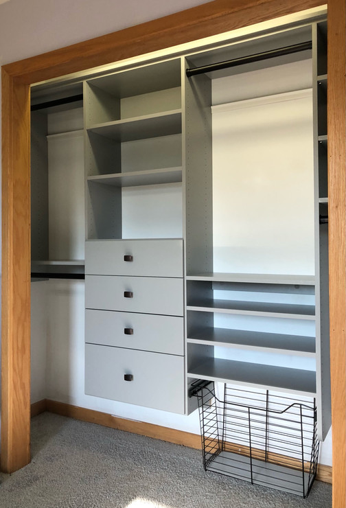 gray reach in closet
