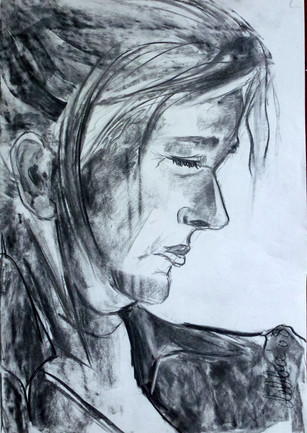 Portret 2 - 2008 - charcoal on paper - 46 x 32 cm
