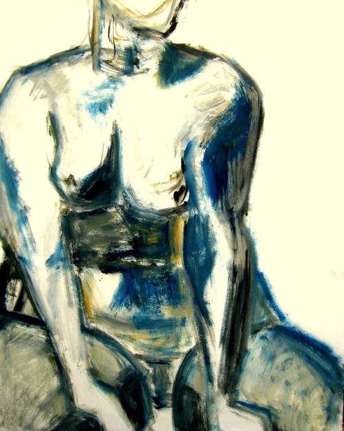 Model 13	 - 2007 - acrylic on paper - 65 x 50 cm