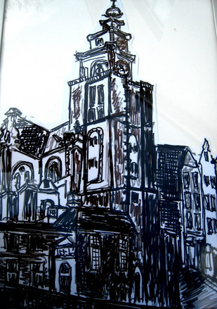 Amsterdam 1 - 2011 - marker on paper  - 29,7 x 21 cm