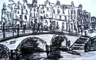 Amsterdam 18 - 2011 - marker on paper - 15,3 x 20,7cm