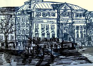 Amsterdam 10 - 2011 - marker on paper - 19 x 27,7cm