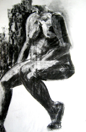 Model 9 - 2007 - charcoal on paper -  65 x 50 cm